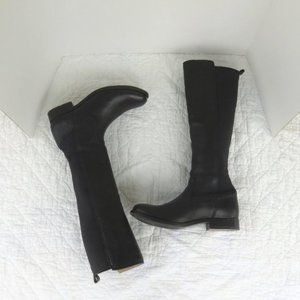 Frye Molly Gore Tall Riding Boots in Black Sz 6.5
